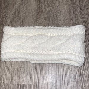Cream Cable-knit Headband